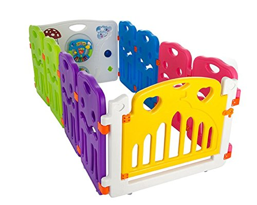 Cannons Plastic Baby Den Playpen with Games Station (Small Panels, 160 x 80 cm) Cannons Tested to European Standards EN12227:2010 and EN71 Suitable for indoor or Ourtdoor use Play Station included in each model 1