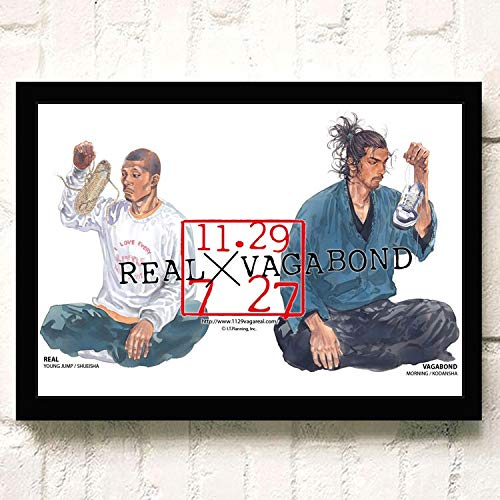 XWArtpic Linea di passeggeri Assassino Guerriero Giapponese Fumetti Yaso qualità dell'immagine Decorazioni per la casa Soggiorno Poster da Parete Arte Tela Pittura 60 * 100 cm