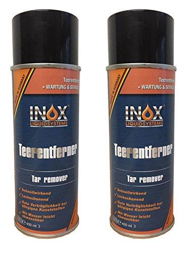INOX® Teerentferner Spray, Klebstoffentferner für Auto, Wohnmobil und Campingwagen - 2 x 400ml -