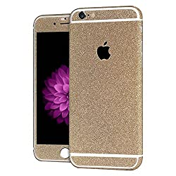 Heartly Sparking Bling Glitter Crystal Diamond Protective Film Whole Body Phone Skin Sticker For Apple iPhone 6 / 6S 4.7 Inch - Mobile Gold