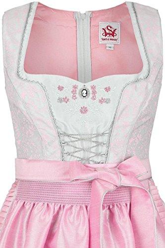 Damen Spieth & Wensky Dirndl kurz florales Muster hellgrau-rosa, hellgrau-rosa, hellgrau-rosa