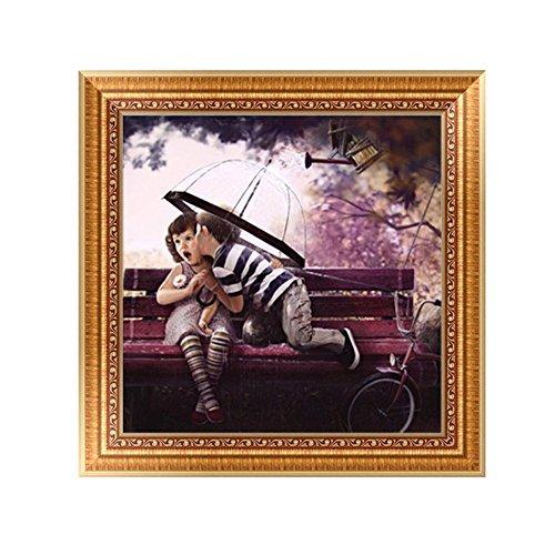 Trada Diamant Malerei, 5D Stickerei Gemälde Strass eingefügt DIY Diamant Malerei Kreuzstich Arts Craft für Wohnzimmerwandaufkleber Dekor Kunsthandwerk Stich Zuhause Dekor (D)