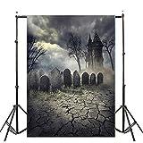 JiaMeng Ferienartikel Halloween Foto Studio 3D Studio Hintergrund Tuch, Halloween Kulissen Kürbis Vinyl 3x5FT Laterne Hintergrund Fotografie Studio