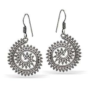 Jaipur Mart Drop Earrings for Women (Silver)(GSE556SLV)