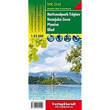 Nationalpark Triglav - Kranjska Gora - Planica - Bled, Wanderkarte 1:35.000, WK 5141, freytag & berndt Wander-Rad-Freizeitkarten
