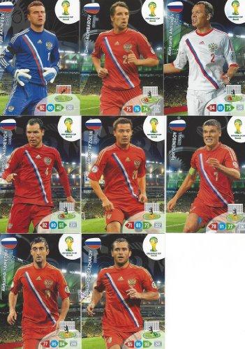 FIFA World Cup 2014 Brazil Adrenalyn XL Russia Base Card Team Set -