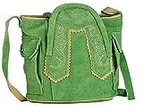 Oktoberfest-Kleidung Trachten-Handtasche aus Echtleder, Dirndltasche, 15x12x6cm, Typ 1, grün