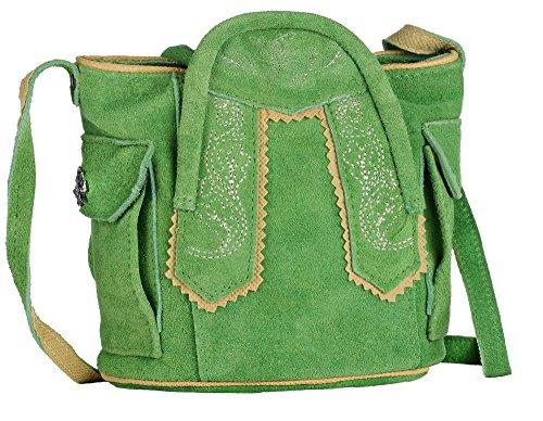 19dd0d322f1a Oktoberfest-Kleidung Trachten-Handtasche aus Echtleder, Dirndltasche, 15cm,  Typ 1, grün