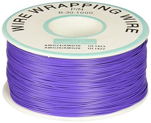 Jtag Jig (Verzinnter Kupferdraht für Wickelverbindungen, violett, PVC-beschichtet, 0,26 mm (30 awg), 305 m)