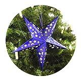 FiveStar Premium Papiersterne, Party Deko, 2 Stück Durchmesser: 45cm Weihnachtsdeko Deko-Stern Fensterstern Paper Star in Verschiedenen Farben (Blau) Test