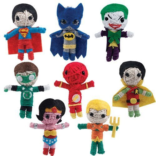 DC Comic Super Hero 2 String Doll Set Featuring Superman, Batman, Joker, Green Lantern, Flash, Robin, Wonder Woman and Aquaman by DC Comics (String Doll Set)