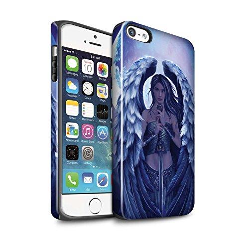 Officiel Elena Dudina Coque / Brillant Robuste Antichoc Etui pour Apple iPhone SE / Pack 9pcs Design / Super Héroïne Collection Ange Gardien