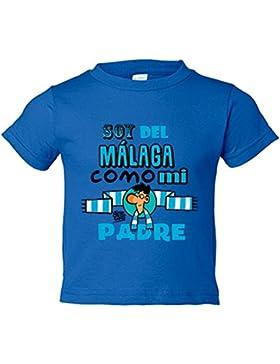 Camiseta niño soy del Málaga como mi padre Jorge Crespo Cano