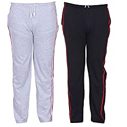 Teestadka Mens Track Pants (Pack of 2) (RC_CMTK_0221_L_Large_Multi-Coloured)