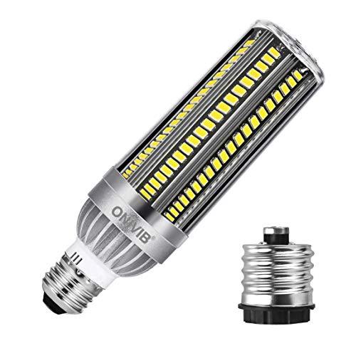 ONIVIB 54W Super Bright LED Corn Lamp Bulb 6400 Lumen (800W Equivalent) 6500K Cool White Daylight, E27 Base for Large Area Commercial Lighting, Garage Warehouse Factory