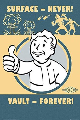 empireposter 731937Fallout 4Vault Forever-Game Videogioco Stampa Poster-dimensioni 61x 91,5cm, carta, multicolore, 91,5x 61x 0,14cm