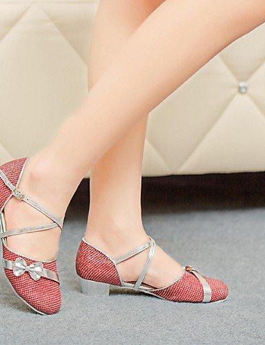 ShangYi Chaussures de danse (Violet/Rouge/Argent/Or) - Non personnalisable Paillette - Moderne Silver