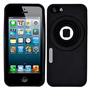 DECORO SILIP5CAMBK Brand Premium Silicone Case for Apple iPhone 5 - Cartoon Camera Design - 1 Pack - Retail Packaging...
