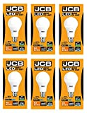 JCB LED GLS Opal (Frosted) Household Light Bulb ([6 Pack] 15w (100w), B22 Bayonet, 6500k Daylight)