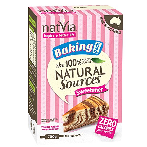 100% Naturally Derived Sweetener by Natvia – 700g Baking Pack. Healthy Stevia Sugar Substitute for Baking Cakes, Pastry, Biscuits and Cupcakes