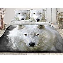 Loup drap - Housse de couette loup ...