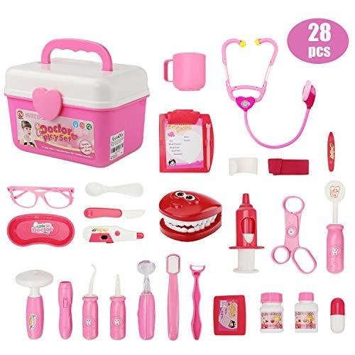 ür Kinder (28-teilig) - Arzt Spielzeug Kinderarztkoffer Dentist Doktor Set Medizinische Kit Lernspielzeug Kinder Rollenspiele ()