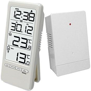 Technoline Wetterstation WS 9118 mit Uhrzeitanzeige sowie Innen- und Außentemperaturanzeige