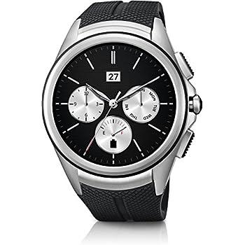 "LG Urban 2 1.38"" P-OLED 93.6g Negro, Metálico - relojes inteligentes (Polipiel, Poliuretano termoplástico, Alrededor, Polímero de litio, Negro, Metálico, Vidrio, Metal, Negro)"