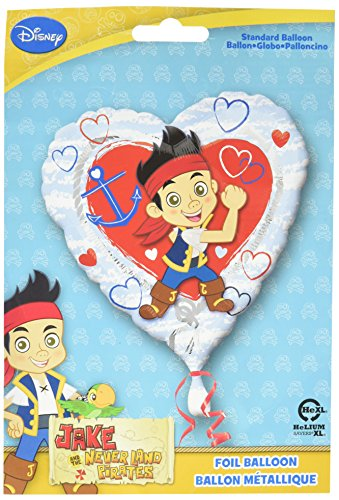 Anagram International HX Jake Neverland Piraten Love verpackt Party Luftballons, multicolor