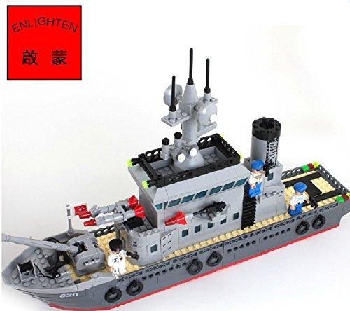 Esercito Militare Blu scuro Battaglia Nave Elicottero Nascondiglio Compatibile con NUOVO 614pz(820)
