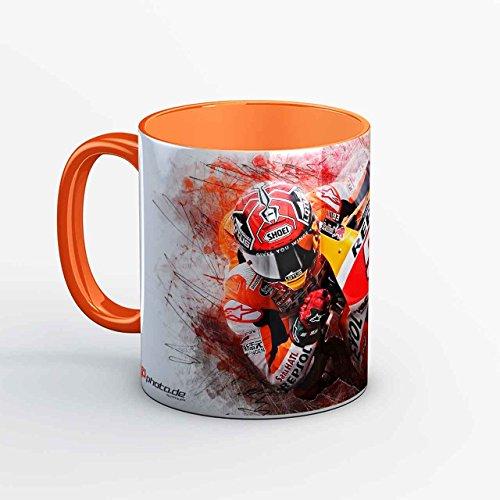 GP-Tasse 04 - Marc Marquez - Barca orange