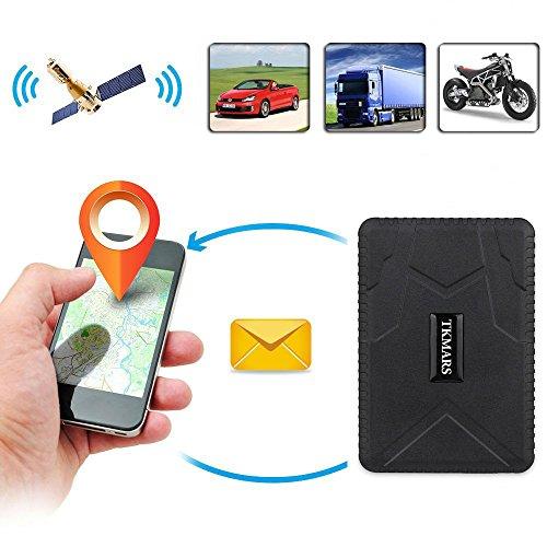 51hBMT1A99L - Hangang Rastreador GPS Magnético 120 días GPS Tracker en Espera, Localizador GPS a Prueba de Agua Dispositivo de Seguimiento en Tiempo Real Vehículo Automóvil con Camión para Auto GPS