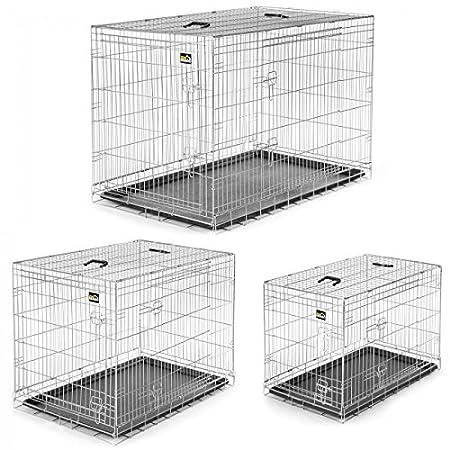 zoomundo Hundekäfig Transportkäfig Transportbox Tierkäfig Drahtkäfig Faltbarer Käfig aus Metall mit herausnehmbarer…