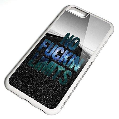 Smartcover Case No fuckin Limits z.B. für Iphone 5 / 5S, Iphone 6 / 6S, Samsung S6 und S6 EDGE mit griffigem Gummirand und coolem Print, Smartphone Hülle:Samsung S6 EDGE schwarz Iphone 6 / 6S weiss