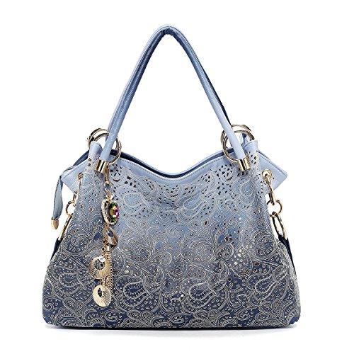 - 51hBMmIsIQL - Vincico Womens Fashion Designer Pu Leather Bag Top Handle Tote Purse Shoulder Bags Ladies Handbags