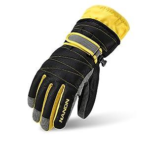 Rmine Ski Handschuhe Winddicht Regendicht Thermohandschuhe für Herren Damen Junge Kinder
