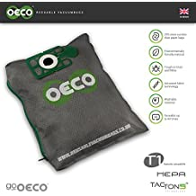 OECO® Henry reusable washable hoover bag Numatic James Hetty Numatic Nuvac VNP180-11 NA1 Kit vacuum bag 100% added value Up to 20% more suction for 20% longer than conventional bags with Tacton5™ advanced material