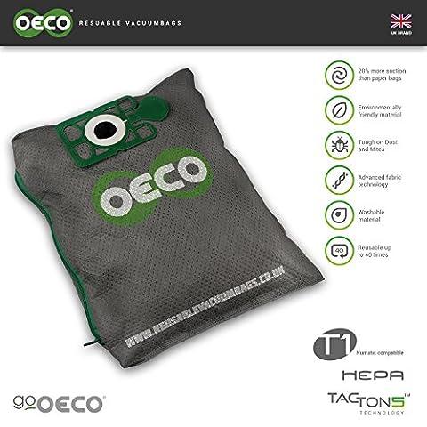 oeco–T1réutilisable lavable James Numatic Henry Hetty