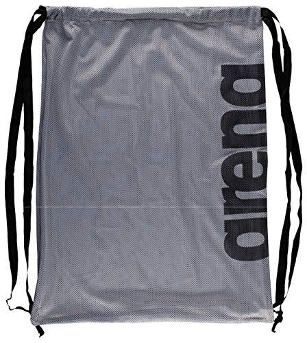 arena Unisex 2-in-1 Netztasche Rucksack Mesh Bag (Schnelltrocknend, Kordelverschluss), Silver Team (52), One Size