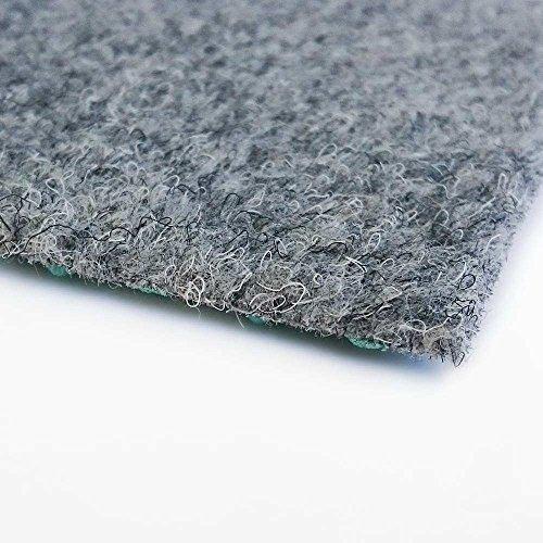 livingfloor® Kunstrasen Vliesrasen mit Noppen Grau in 1,50 m Breite, Länge variabel Meterware, Größe:2.50x1.50 m