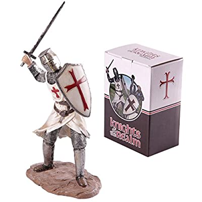 Puckator KN173 Figurine Knight Large Croisades Attack of the sword White/Grey/Red