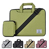 KALIDI 15 Inch Water-Resistant Padded Laptop Sleeve for MacBook Pro, Green