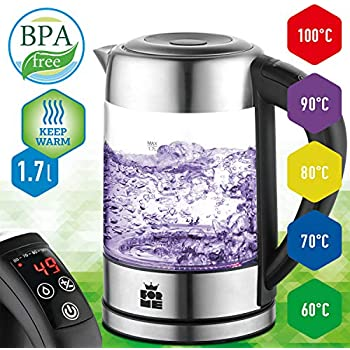 Amazon.de: ForMe Glas Wasserkocher 1.7 L Temperaturwahl 60