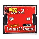 Generic RGBs Dual Port Micro SD/SDHC/SDXC TF zu Compact Flash UDMA CF Typ 1Speicher Kartenleser Adapter für Canon Nikon Kamera