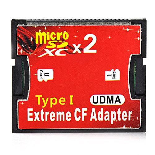 RGBS Dual Port Micro SD/SDHC/SDXC TF zu Compact Flash UDMA CF Typ 1 Speicher Kartenleser Adapter für Canon Nikon Kamera -