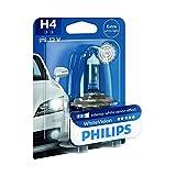 Philips WhiteVision Xenon-Effekt H4 Scheinwerferlampe 12342WHVB1, Einzelblister