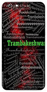 Trambakeshwar (Name Of God Shiva And Vishnu) Name & Sign Printed All over customize & Personalized!! Protective back cover for your Smart Phone : Lenovo A6010 / A6010 Plus