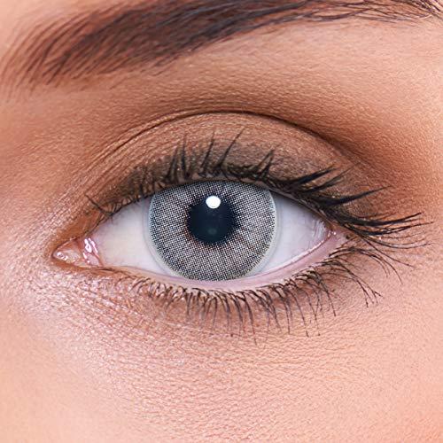 rliche graue Kontaktlinsen farbig