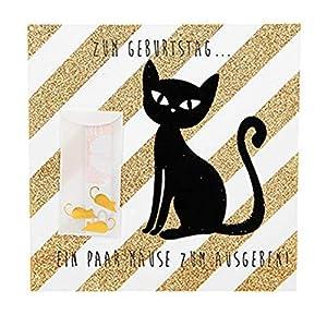 Depesche 8211.017Tarjeta de felicitación Glamour con Ornamento y Purpurina, cumpleaños