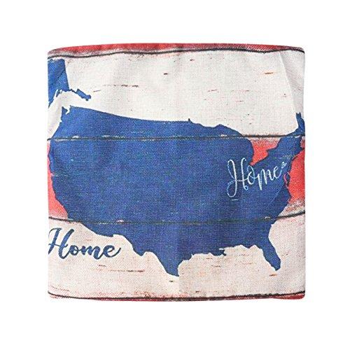 Vosarea Housse de Coussin Taie d'oreiller American Velvet Linen Retro Home Sofa Coffee Library 45X45CM (Accueil, Colorblocking Stripes)
